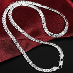 NEW 20'' 925 Sterling Silver Braided Snake Chain